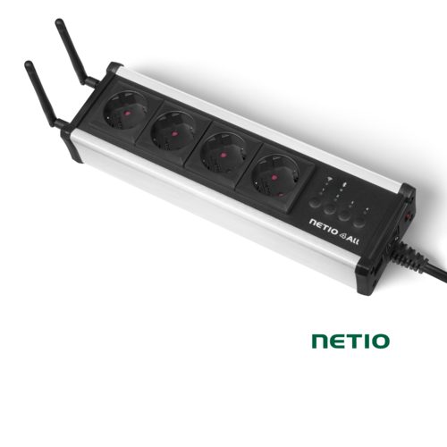 NETIO 4All | 4 Port Schuko Powerleiste | WLAN WiFi Bluetooth
